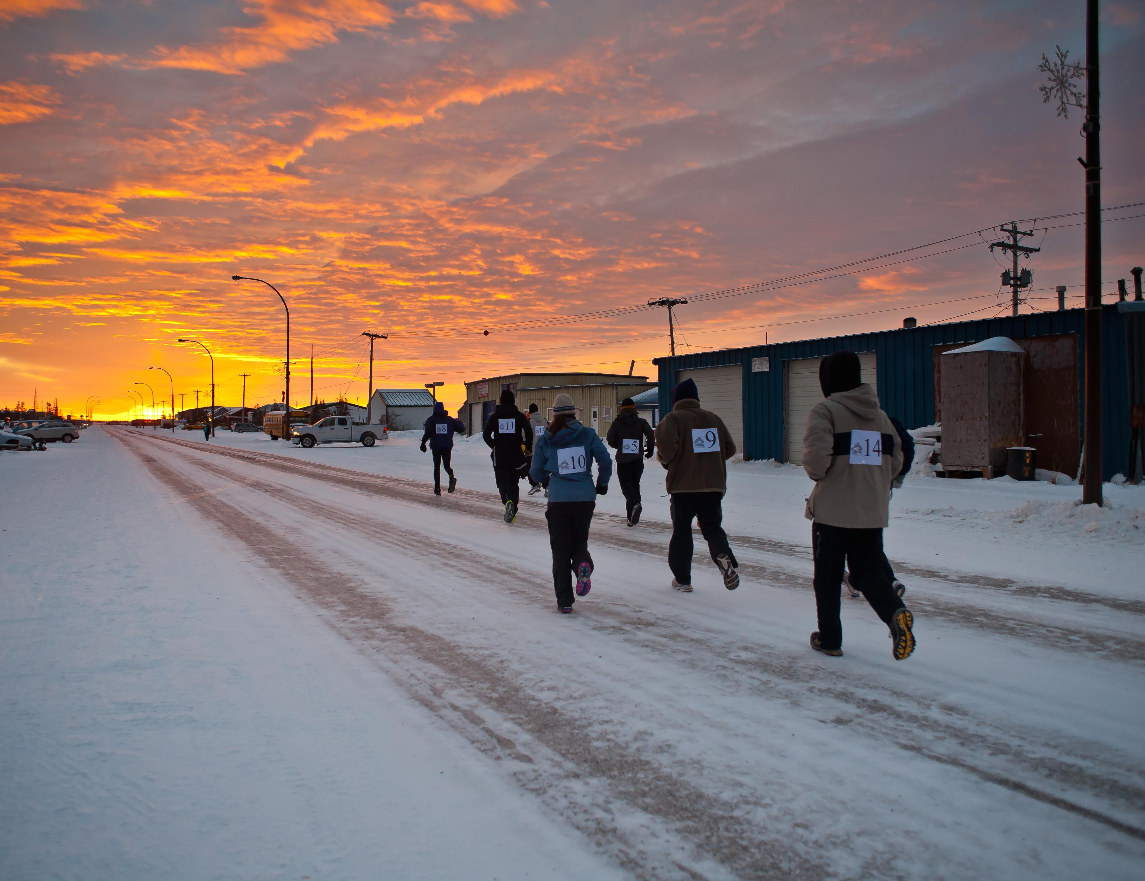 Marathon mit Eisbär - der kanadische Polar Bear Marathon in ...