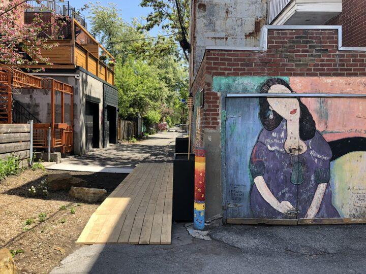 Ruelle Modigliani auf dem Plateau Montréal